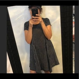 Silence + Noise Witchy Tee Checkered Dress